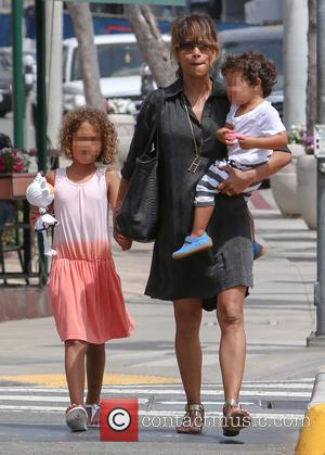 Halle Berry, Nahla Aubry and Maceo Martinez