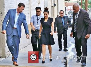Salma Hayek - Celebrities at the ABC studios for 'Jimmy Kimmel Live!' at Jimmy Kimmel Studio - Los Angeles, California,...