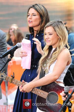 Savannah Guthrie , Taylor Dye - Maddie & Tae performing live on NBC's 'Today' show as part of the Toyota...