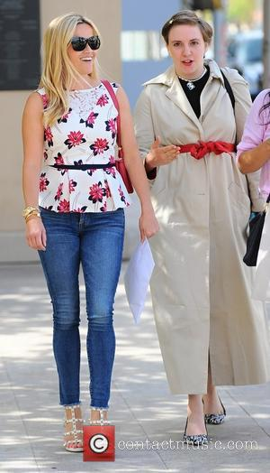 Reese Witherspoon , Lena Dunham - Reese Witherspoon and Lena Dunham have lunch together in Beverly Hills - Los Angeles,...