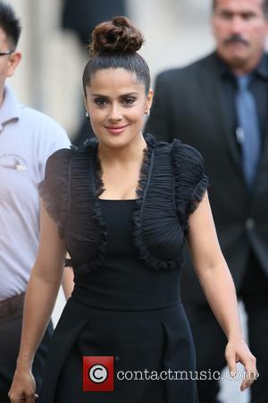 Salma Hayek - Salma Hayek seen leaving the ABC studios after Jimmy Kimmel Live! at Hollywood - Los Angeles, California,...