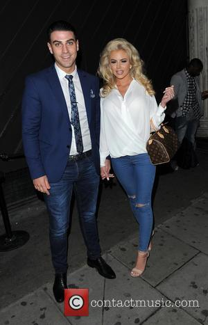 Jonathan Clark , Hannah Elizabeth - Jeans for Genes Day 2015 launch party at Chinawhite - Outside at Chinawhite -...