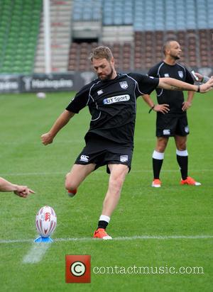 Brian McFadden - Photocall and training for Rugby Aid 2015 at The Twickenham Stoop. - London, United Kingdom - Wednesday...