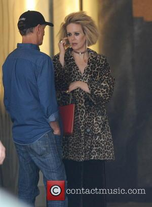 Sarah Paulson - Magic Mike star Matt Bomer spotted on the set of 'American Horror Story Hotel' with co stars...