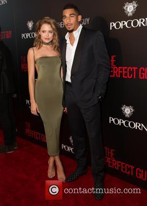 Evander Kane , Mya Teigen - 'The Perfect Man' premiere - Arrivals at WGA Theater - Beverly Hills, California, United...