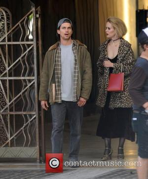 Matt Bomer , Sarah Paulson - Magic Mike star Matt Bomer spotted on the set of 'American Horror Story Hotel'...