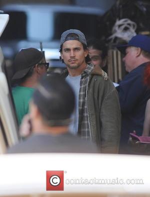 Matt Bomer - Magic Mike star Matt Bomer spotted on the set of 'American Horror Story Hotel' with co stars...