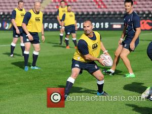 Louie Spence - Photocall and training for Rugby Aid 2015 at The Twickenham Stoop. - London, United Kingdom - Wednesday...