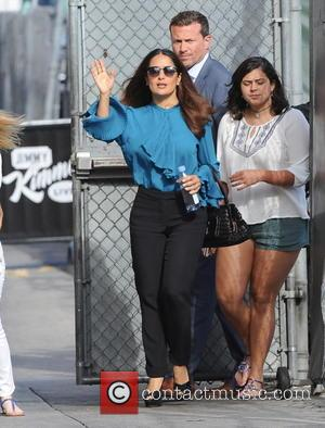 Salma Hayek - Actress Salma Hayek looking casual as she arrives for the 'Jimmy Kimmel' Show in Los Angeles -...