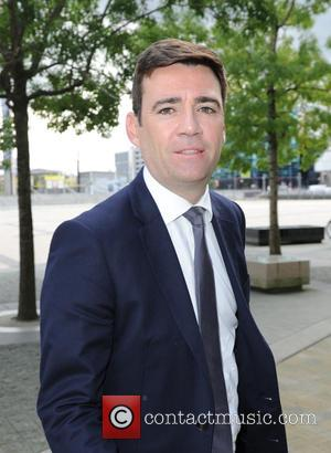 Andy Burnham - Andy Turnham MP spotted out and about in Media City, Manchester - Manchester, United Kingdom - Thursday...