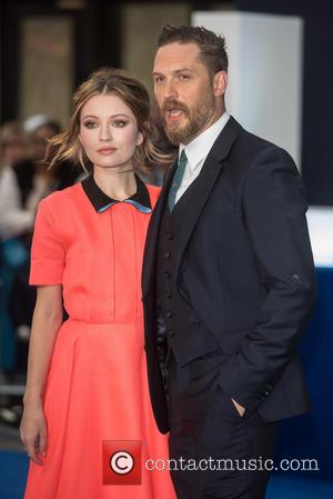 Tom Hardy , Emily Browning - 'Legend' UK film premiere held at the Odeon Leicester Square - Arrivals. at Odeon...