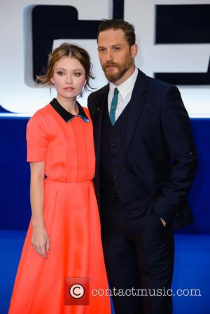 Emily Browning , Tom Hardy - The World  Premiere of 'Legend' held at the Odeon Leicester Square - Arrivals...