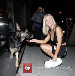 Joanna Krupa , Dog - Celebrities dining at Craig's in West Hollywood at West Hollywood - Los Angeles, California, United...