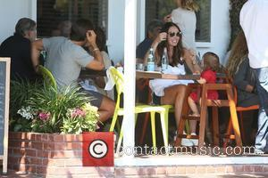 Tamara Ecclestone, Sophia Eccelstone-Rutland , Jay Rutland - Tamara and Petra Ecclestone have lunch together at Fred Segal with their...