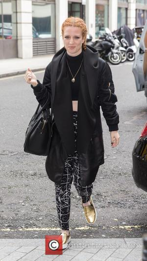 Jess Glynne - Jess Glynne arriving at the BBC Radio 1 studio to perform on the Live Lounge at BBC...