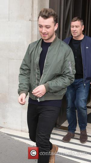 Sam Smith - Sam Smith leaving the BBC Radio 2 studios after performing live on the Ken Bruce Show at...