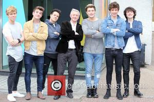 Louis Walsh , Home Town - Louis Walsh and his new boy band 'Home Town' outside ITV Studios - London,...