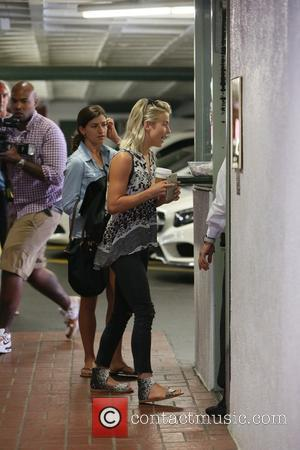 Julianne Hough - Julianne Hough treats herself to a manicure and pedicure with a friend in Beverly Hills at Beverly...