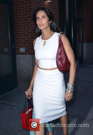 Padma Lakshmi - Padma Lakshmi out and about with her daughter in New York City - Manhattan, New York, United...