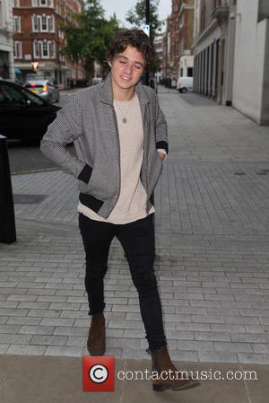 The Vamps , Bradley Simpson - Bradley Simpson of the Vamps pictured arriving at the Radio 1 studio at BBC...