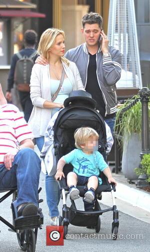 Michael Buble, Luisana Lopilato and Noah Buble