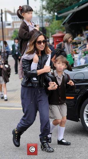 Myleene Klass, Hero Harper Quinn , Ava Bailey Quinn - Myleene Klass out and about in London with her daughters...