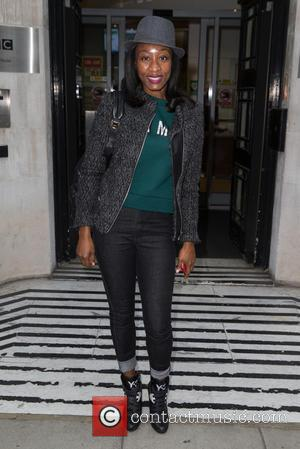 Beverley Knight - Beverley Knight pictured arriving at the Radio 2 studio at BBC Western House - London, United Kingdom...