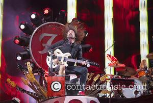 Dave Grohl - Foo Fighters performing on their long awaited first UK gig since Dave Grohl broke his leg and...