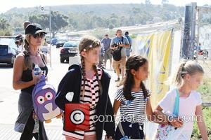 Denise Richards, Lola Rose Sheen , Sam Sheen - Celebrities at Malibu Kiwanis Chili Cook-off in Malibu - Brentwood, California,...