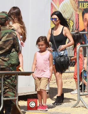 ourtney Kardashian , Mason Dash Disick - Celebrities at Malibu Kiwanis Chili Cook-off in Malibu - Malibu, California, United States...