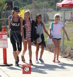 Denise Richards, Lola Rose Sheen , Sam Sheen - Celebrities at Malibu Kiwanis Chili Cook-off in Malibu - Malibu, California,...