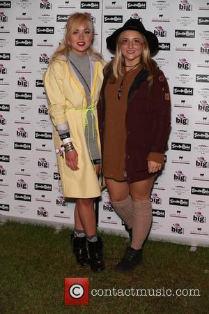 Jorgie Porter , Jasmine Franks - Sundown Festival 2015 - Arrivals at Norwich - London, United Kingdom - Saturday 5th...