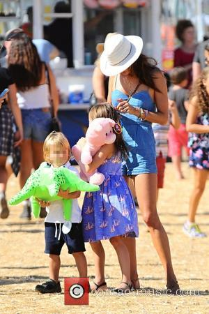 Alessandra Ambrosio, Anja Louise Ambrosio Mazur , Noah Phoenix Ambrosio Mazur - Alessandra Ambrosio takes her children, Anja Louise and...
