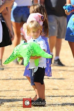Noah Phoenix Ambrosio Mazur - Alessandra Ambrosio takes her children, Anja Louise and Noah Phoenix to the Malibu Fair -...