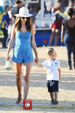 Alessandra Ambrosio , Noah Phoenix Ambrosio Mazur - Alessandra Ambrosio takes her children, Anja Louise and Noah Phoenix to the...
