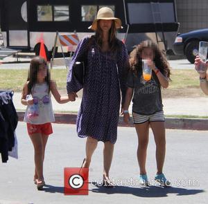 Adam Sandler, Jackie Sandler, Sadie Madison Sandler and Sunny Madeline Sandler