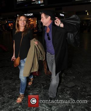 Richard Hawley , Alison King - Coronation Street stars Alison King and Richard Hawley  seen at  Euston railway...