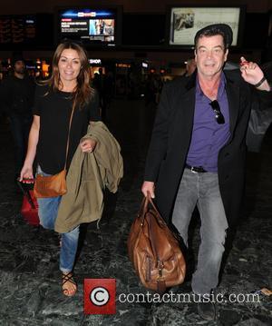 Alison King , Richard Hawley - Coronation Street stars Alison King and Richard Hawley  seen at  Euston railway...