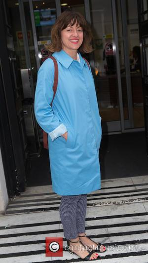 Jo Hartley - Jo Hartley pictured arriving at the Radio 2 studio to talk about the TV miniseries, 'This is...