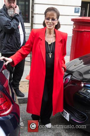 Jackie Collins OBE - Jackie Collins OBE pictured arriving at the Radio 2 studio at BBC Western House - London,...