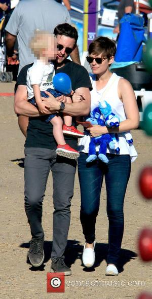 Jamie Bell , Kate Mara - Billy Elliot star Jamie Bell at Malibu Chili Cook-Off with his son and girlfriend...