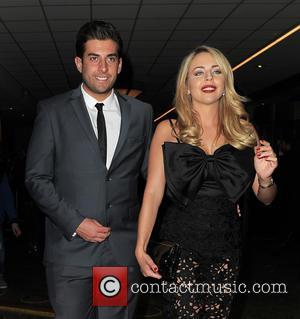 Lydia Bright , James Argent - The TV Choice Awards held at London Hilton Park Lane - Departures - London,...