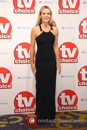 Amanda Holden - The 2015 TV Choice Awards held at the Hilton Park Lane - Arrivals - London, United Kingdom...
