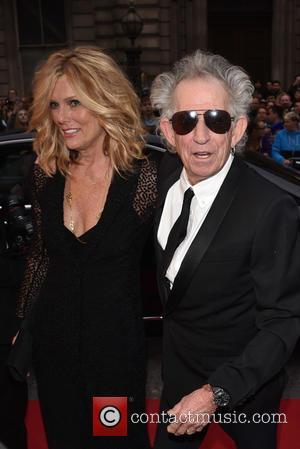 Keith Richards and Patti Hansen