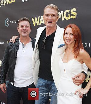 Dolph Lundgren , Challen Cates - Premiere of Cinedigm's 'War Pigs' at ArcLight Cinemas - Arrivals at ArcLight Cinemas -...