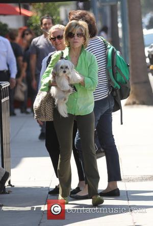 Jane Fonda - Jane Fonda with her dog has lunch in Beverly Hills - Los Angeles, California, United States -...
