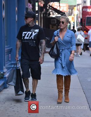 Pink, Alecia Beth Moore, P!nk , Carey Hart - Pink and Carey Hart out and about in SoHo - Manhattan,...