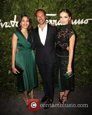 Freida Pinto, Massimiliano Giornetti , Camilla Belle - Celebrities attend the Salvatore Ferragamo 100 Years In Hollywood celebration at the...