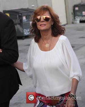 Susan Sarandon - Susan Sarandon greets fans departing her appearance on Jimmy Kimmel Live! at jimmy Kimmel Studios - Los...