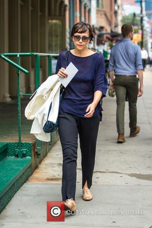 Maggie Gyllenhaal - Maggie Gyllenhaal out and in Tribeca during New York Fashion Week at New York Fashion Week -...